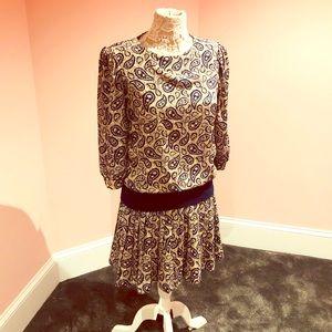Cute drop waist 80s dress vintage